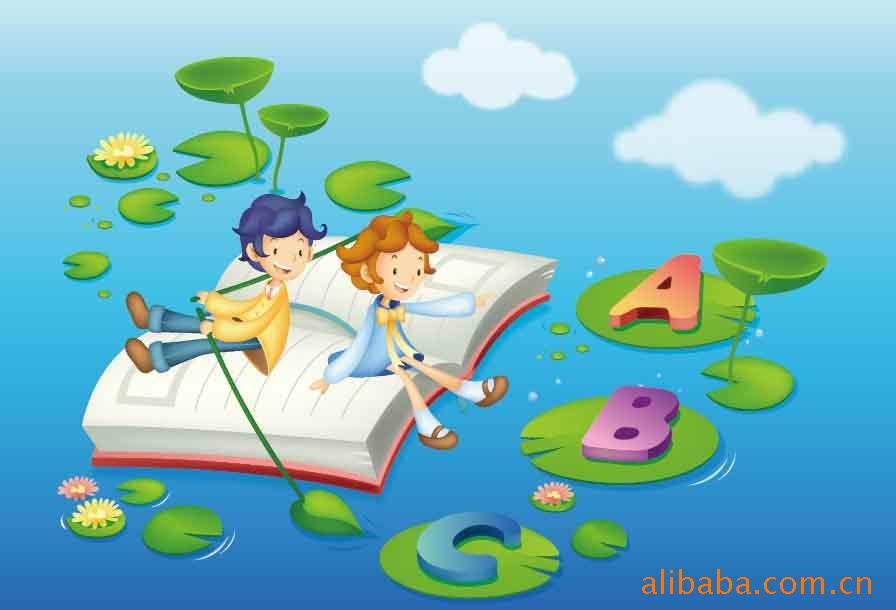 free clipart of books and reading